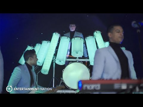 Visualisation - Live Band With LED Drums