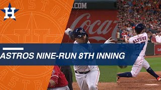 Astros use 9-run 8th inning to stun Angels - Video Youtube