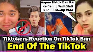 End Of The Tiktok | Tiktokers Reaction On TikTok Ban | TikTok Roast
