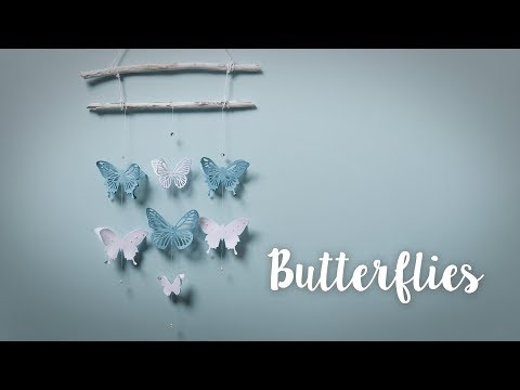 How to Make Home Decor Hanging Butterflies - Sizzix Lifestyle