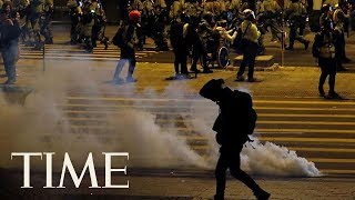Hong Kong Police Arrest And Tear Gas Protesters On Christmas Eve | TIME