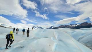 Walking on the Perito Moreno Glacier