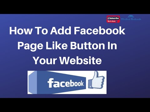 How To Add Facebook Page Like Button In Your Html And Php Website