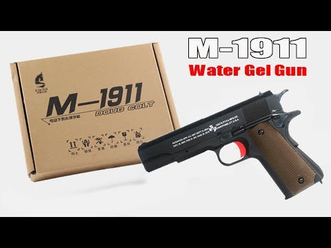 Unboxing the colt M 1911 Gel Ball Blaster Video by X-Force