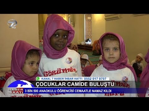 3 Bin 500 Çocuk Camide Buluştu