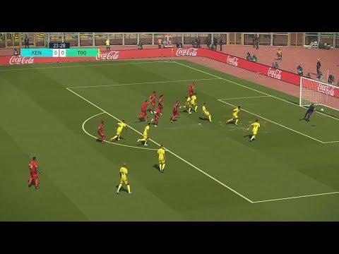 Kenya vs Togo | Qualification Coupe d'Afrique CAN 2021 | 18 November 2019 | PES 2018
