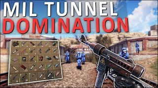 DOMINATING the MILITARY TUNNELS! - Rust Solo Survival #6