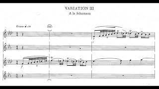 Alexander Glazunov – Saxophone Quartet, Op. 109 – 1932