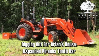 Kubota BH92 Backhoe - First Time Operating, Digging Out