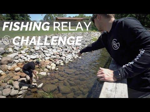 GOOGAN Ultimate Relay FISHING Challenge! (Part 1)
