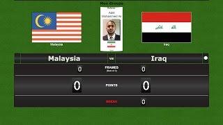 Snooker Team Men Groups : Malaysia vs Iraq