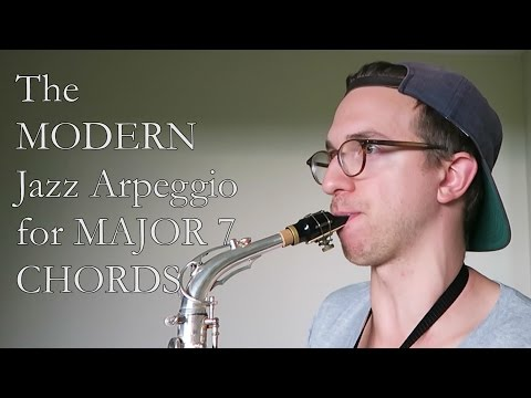 The MODERN Jazz Arpeggio for MAJOR 7 CHORDS