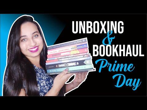 UNBOXING & BOOK HAUL Prime Day | Karina Nascimento | Paraíso dos Livros #Amazon #Amazonprimeday