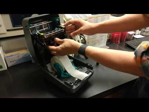 Changing Ribbon on a Zebra GK420T Printer