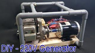 How to make 220v Dynamo Generator Using 2-stroke Engine