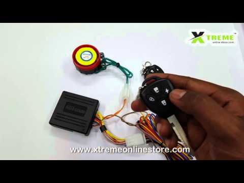 Anti Theft Security Alarm System With Double Key Remote For Motor Bikes