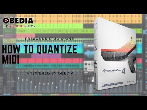 Get Started with Studio One: How to quantize MIDI in Studio One