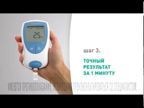 Алгоритм измерения уровня сахара в крови глюкометром
