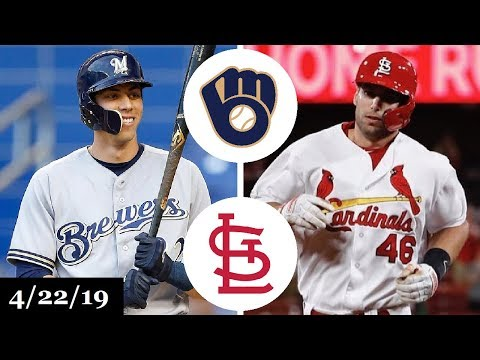 Milwaukee Brewers vs St. Louis Cardinals Highlights | April 22, 2019