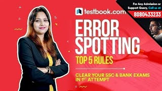 Attempt Error Spotting Questions with 100% Accuracy in English for SSC & Bank Exams by Testbook.com