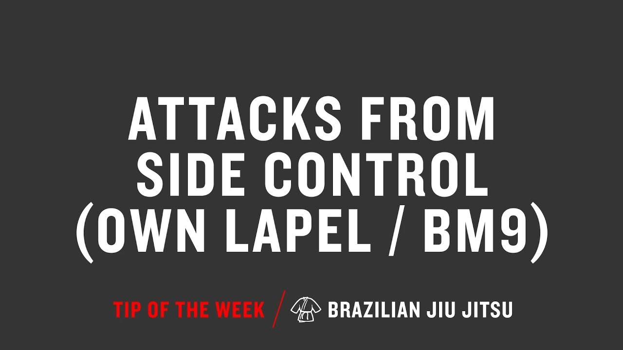 Attacks From Side Control Own Lapel Bm9