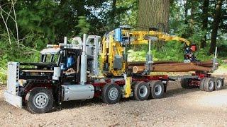LEGO TEchnic Self Loading Logging truck