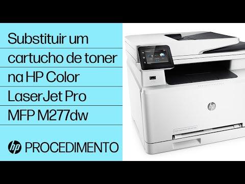 Substituir um cartucho de toner na HP Color LaserJet Pro MFP M277dw