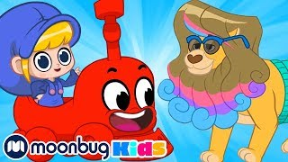 My Magic Pet Morphle - ANIMAL Train! | Full Episodes | Funny Cartoons for Kids | Moonbug TV