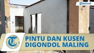 Kosong Puluhan Tahun, Rumah di Medan Dipereteli Maling, Kini hanya Tinggal Puing-puing Tembok