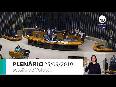 Plenário - Sessão de votação - 25/09/19 - 13:30