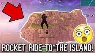 ROCKET RIDING MYSELF TO THE START/SPAWN ISLAND! (Fortnite Battle Royale)