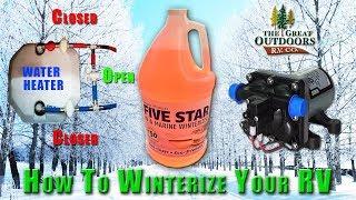 Winterize Your RV Travel Trailer 5th Wheel Camper Colorado Dealer Antifreeze