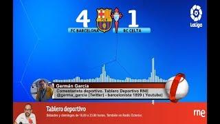 Germán García | Goles | FC Barcelona 4-1 RC Celta | La Liga | Audio RNE 9/11/2019