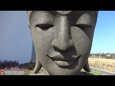 SOLD Large Stone Garden Buddha Head 60