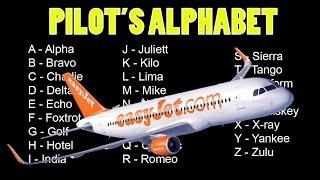 Aeronautical Alphabet (Pilot's Alphabet)