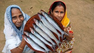 RIVER FRESH BACHA MACH RECIPE !!! Traditional Bacha Fish Cooking by our Grandmother