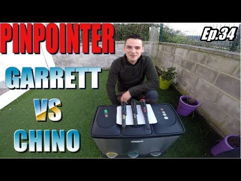 Pinpointer Pro Pointer GARRETT vs CHINA comparativa detector de metales