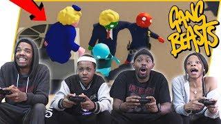 They TOOK His CHEEKS! 4 Player Gang Beast Co-Op! - Gang Beast 2019 Gameplay