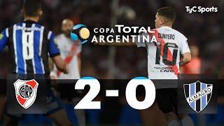 River le ganó 2-0 a Almagro y pasó a semifinales de la Copa Argentina 2019, con goles de Borré y Scocco. Arrechea fue expulsado en el comienzo del segundo tiempo en el Tricolor; mientras que el Millonario contó con el regreso de Juan Fernando Quintero.