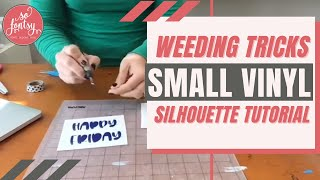How to Weed Super Small Text Based Vinyl & HTV Designs