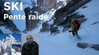 Virages ski de pente raide technique Remy Lecluse Chamonix Mont-Blanc montagne alpinisme