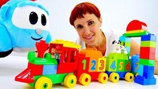 Маша Капуки и грузовичок Лева - паровоз. Мультики для малышей.