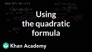 Applying the Quadratic Formula