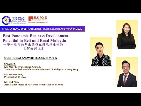 Post Pandemic Business Development Potential in Belt and Road Malaysia