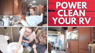 Speed Clean The RV | Travel Power Clean |