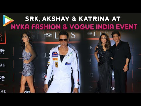 Shah Rukh Khan, Akshay Kumar, Katrina at Red Carpet of Nyka Fashion & Vogue India Powerlist 2019