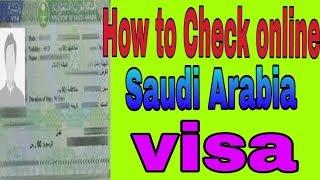 saudi visa check karne ka tarika - Thủ thuật máy tính - Chia