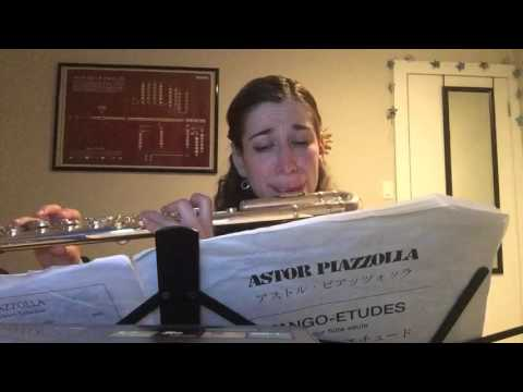 Alto flute performance of Piazzolla Tango Etude no. 4