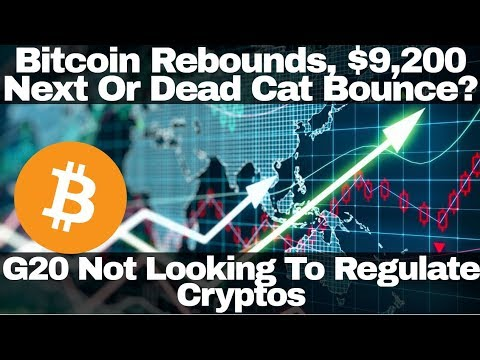 Crypto News | Bitcoin Rebounds, $9,200 Next Or Dead Cat Bounce? G20 Not Looking To Regulate Cryptos