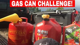 GAS CANS COMPARISON-2017- What one is best?